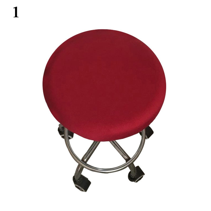 New Round Chair Bar Stool Cover Elastic Seat Cover Home Slipcover Floral Printed